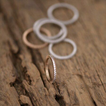inel din aud de 14k roz mijoux cu pietre