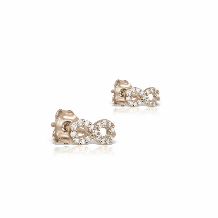cercei din aur roz de 14k mijoux CER 04