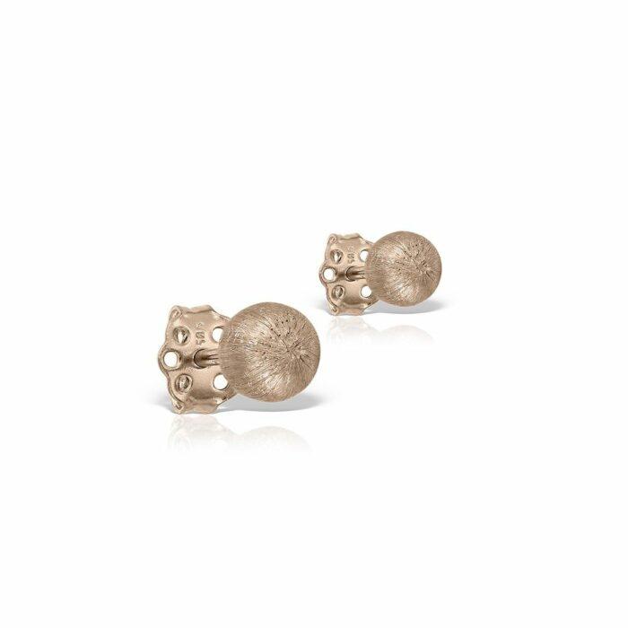 cercei din aur roz de 14k mijoux CGR 01 1