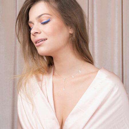 bijuterii aur alb galben roz de 14 k mijoux lantisor love 360