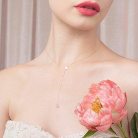 bijuterii aur alb galben roz de 14 k mijoux lantisor millie 867