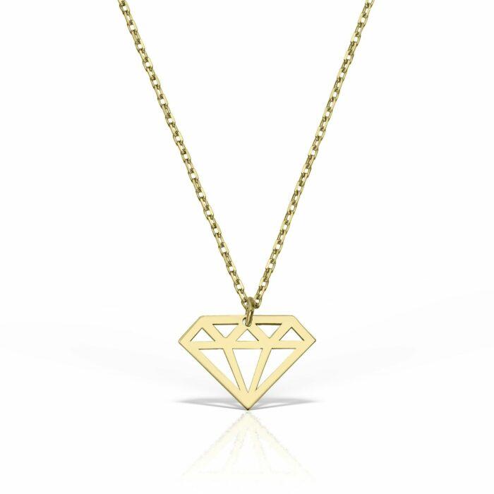 lantisor din aur galben de 14k mijoux LGG 01
