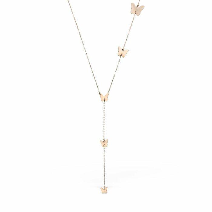 lantisor din aur roz de 14k mijoux LBR 05
