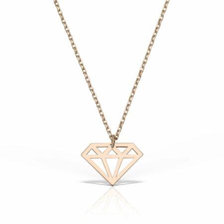 lantisor din aur roz de 14k mijoux LGR 01