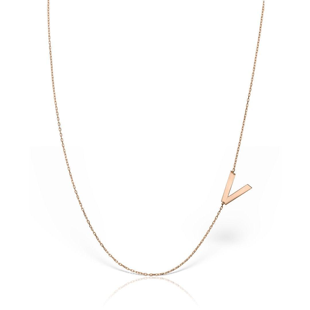 lantisor din aur roz de 14k mijoux LIR V