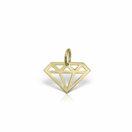 pandantiv din aur galben de 14k mijoux PGG 01