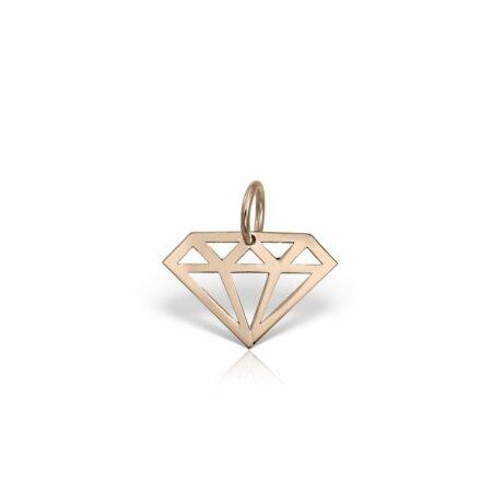 pandantiv din aur roz de 14k mijoux PGR 01