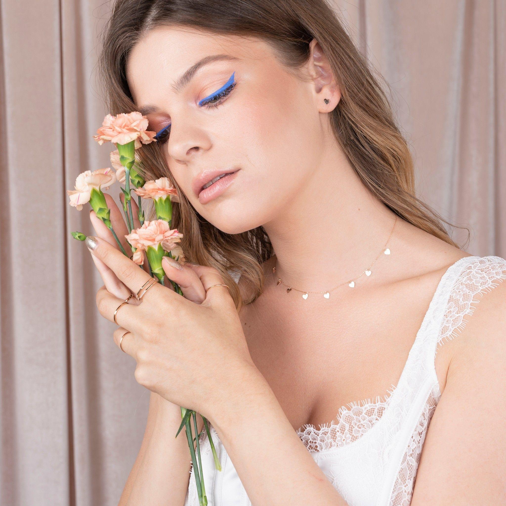 bijuterii aur alb galben roz de 14 k mijoux lantisor gracie 127