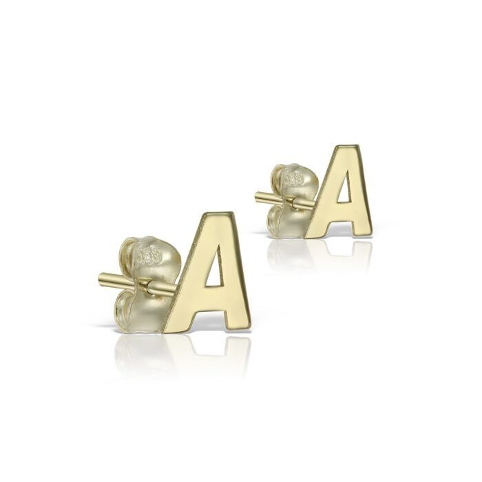 cercei din aur galbeni de 14k mijoux CIG A s