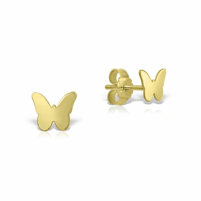 cercei din aur galben de 14k mijoux CBG 01A