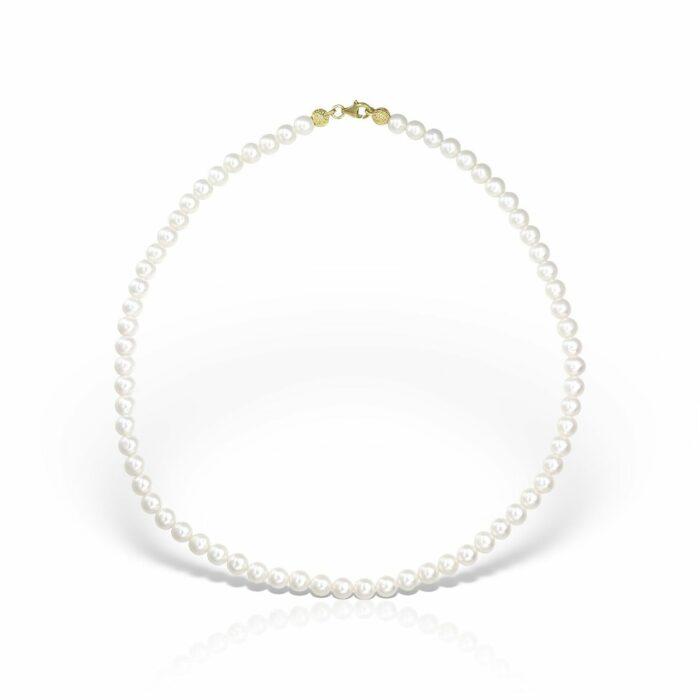 lantisor din aur de 14k cu perle naturale mijoux LPG 01 04