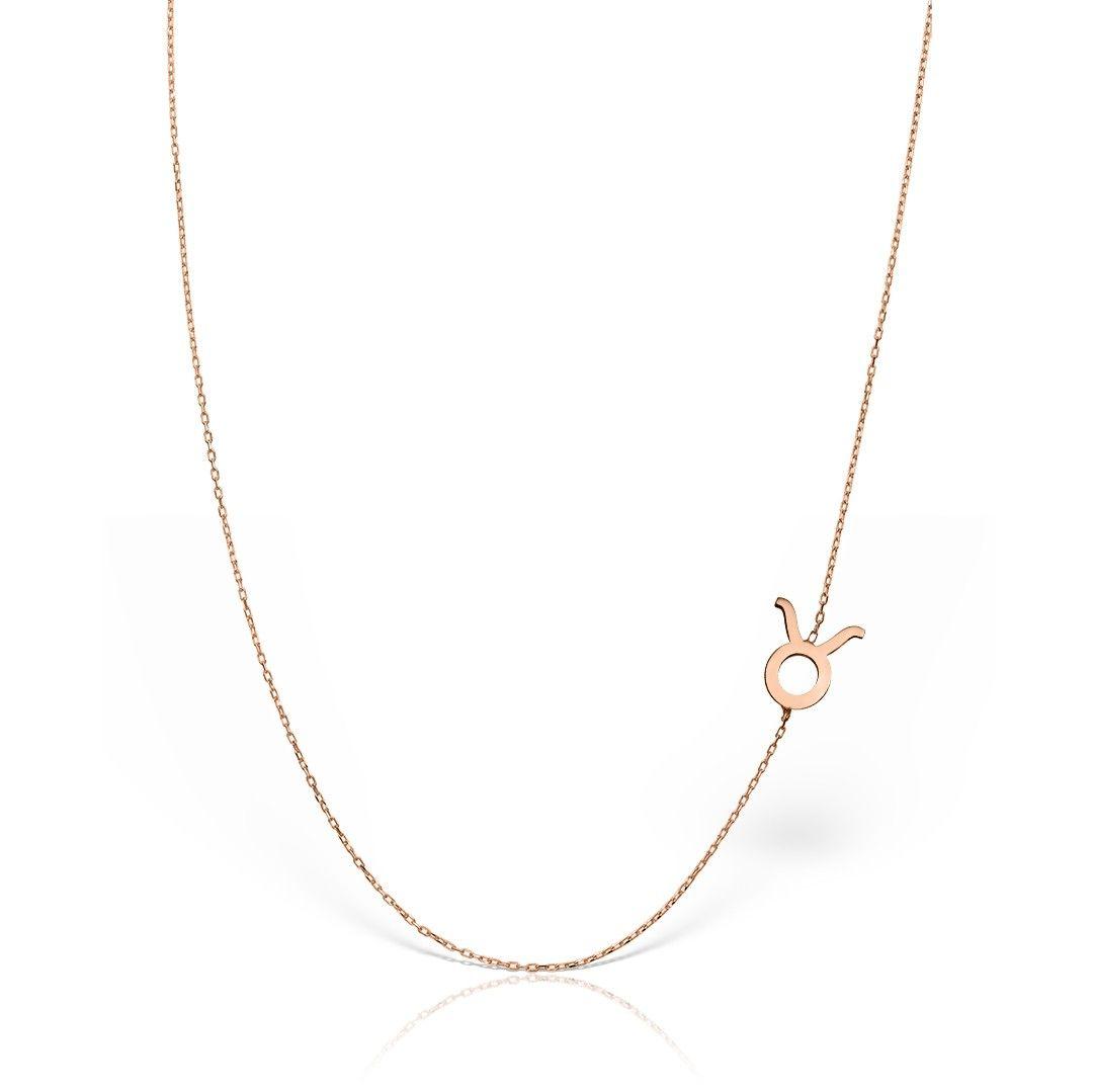 lantisor din aur roz de 14k mijoux zodia taur LZR T