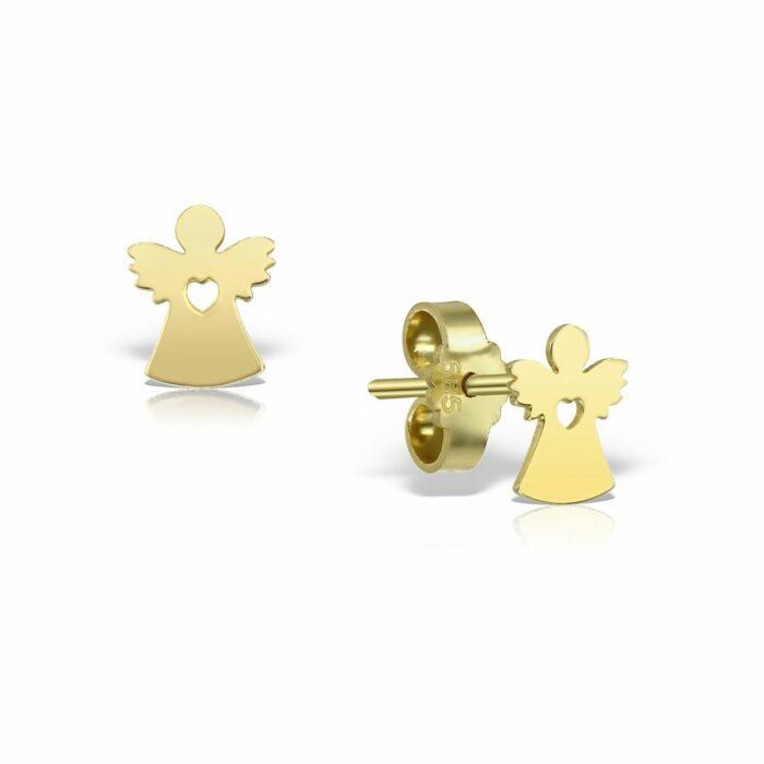 cercei din aur galben de 14k mijoux CEG 02s