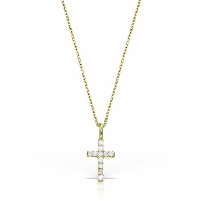 lant din aur galben de 14k cu diamante mijoux LDG 01d