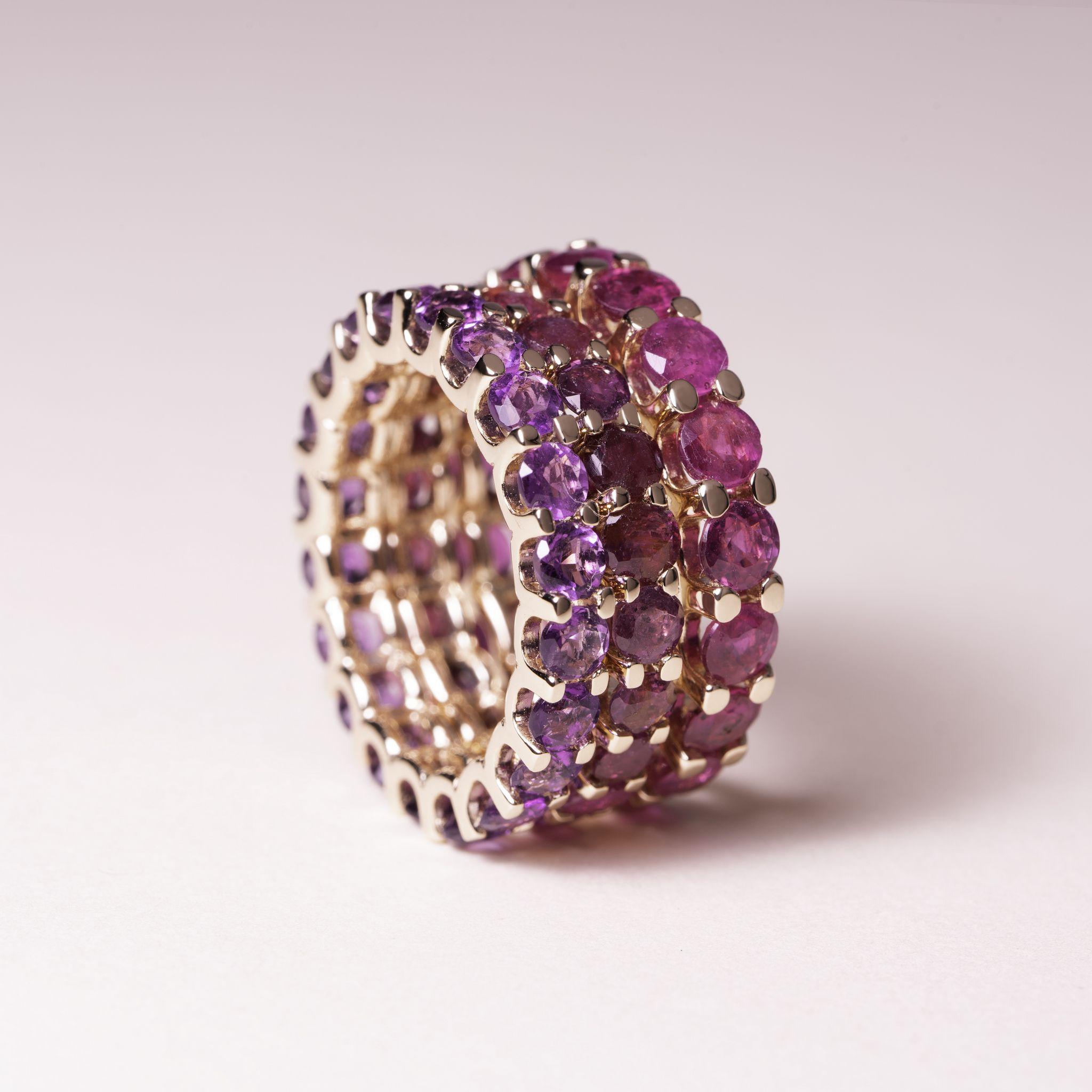 inel din aur cu pietre pretioase rubine mijoux p3 IDR S R