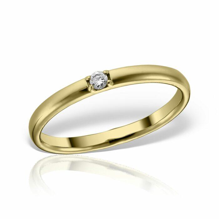 inel din aur de 14k cu diamnat mijoux IDG E D