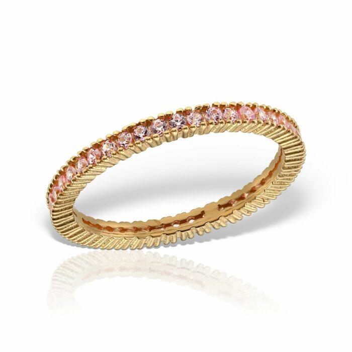 inel din aur roz de 14 k mijoux IBWR 03r52