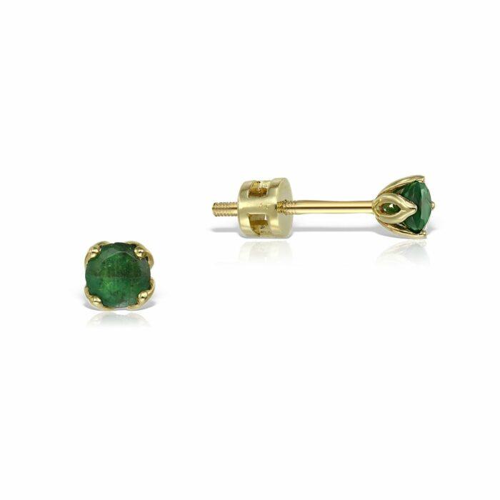 cercei din aur cu pietre smarald mijoux CDR S S