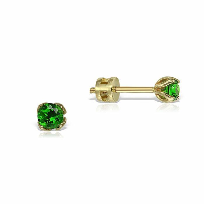 cercei din aur cu pietre turmalin verde mijoux CDR S GT