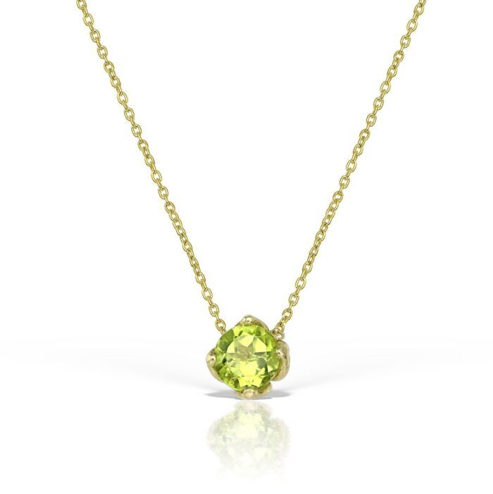 lantisor din aur cu pietre light peridot mijoux LDR S P
