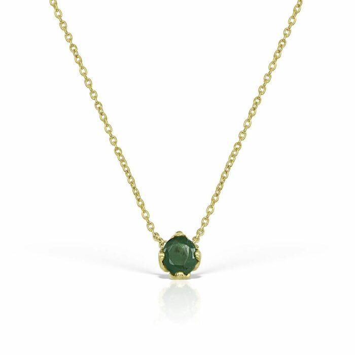 lantisor din aur cu pietre smarald mijoux LDG S S