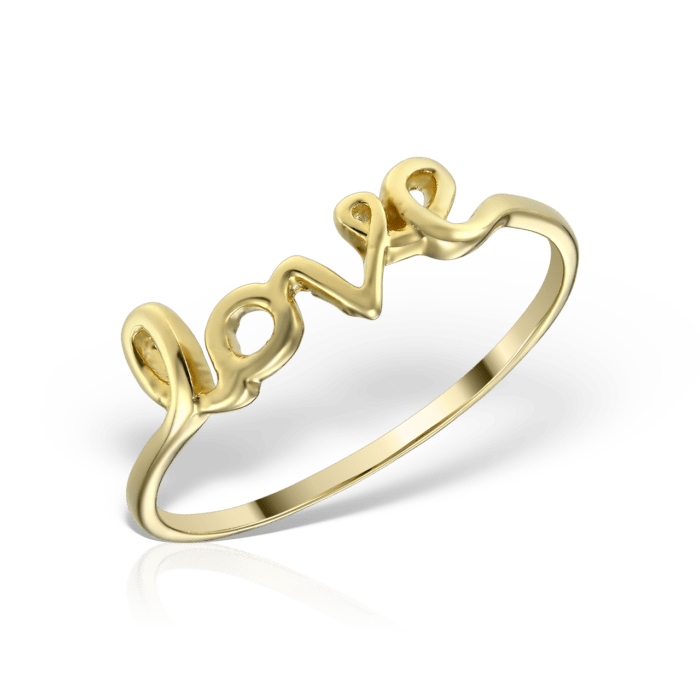 inel din aur de 14 k mijoux love IEG 01