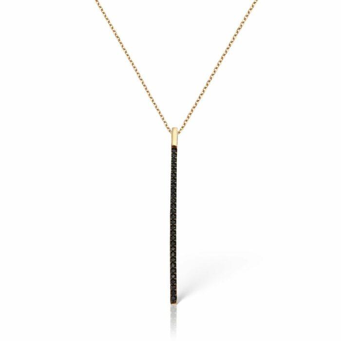 lantisor din aur de 14 k mijoux emma black LBWR 029B